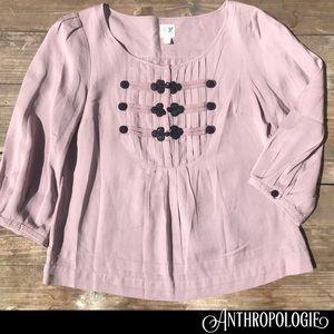 ANTHROPOLOGIE Edme & Eyllste light plum blouse